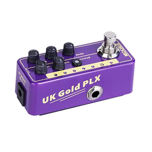 Mooer Micro Preamps UK Gold PLX und BLUENO