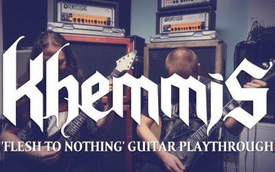 KHEMMIS zeigen 'Flesh To Nothing' Gitarren-Playthrough