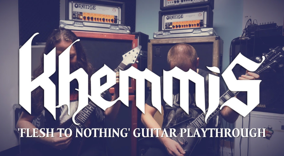 KHEMMIS zeigen 'Flesh To Nothing' Gitarren-Playthrough