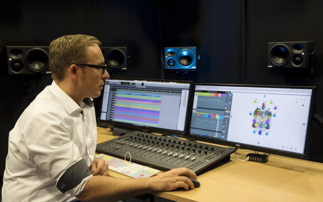3D-Audio-Referenzraum mit Neumann KH 310 A StudioMonitoren