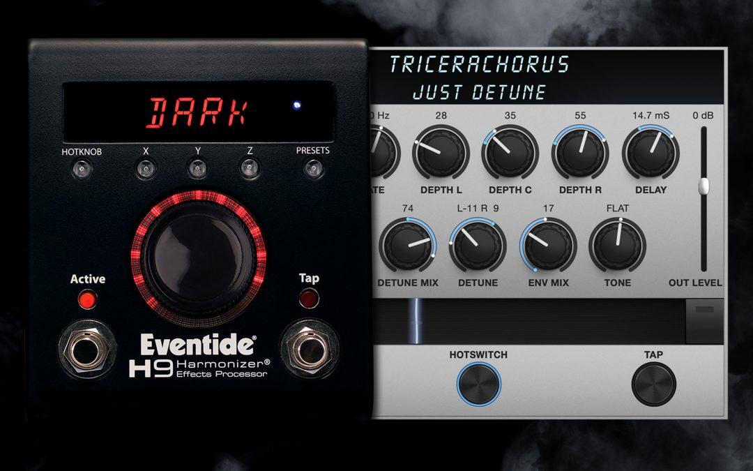 Eventide stellt den TriceraChorus Triple Chorus und den H9 Dark Limited Edition vor