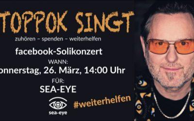 STOPPOK gibt Soli-Konzert für Sea-Eye (26.03., 14 Uhr)