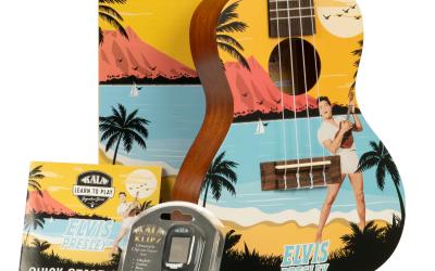 Kala Learn To Play Elvis Concert Ukulele Starter Kits Blue Hawaii, Rockabilly & Viva Las Vegas