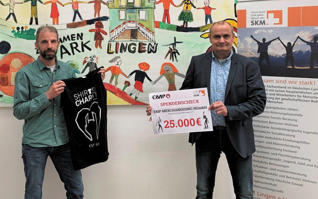 """EMP: """"Shirts for Charity""""-Aktion spielt hohe fünfstellige Spendensumme ein"""