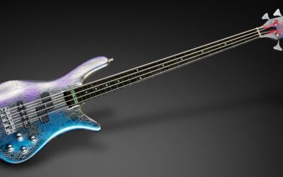 Video MAKING THE INSTRUMENT – Streamer Stage I Fretless – Blue Flip-Flop Chrome Finish #18-3978