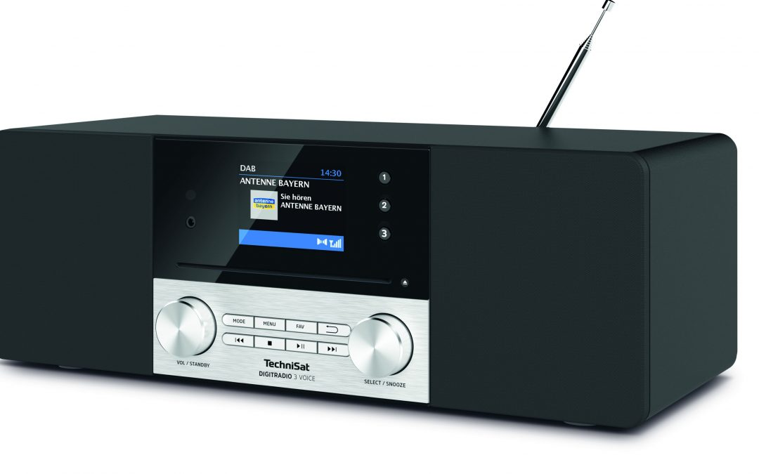 TechniSat präsentiert mit dem DIGITRADIO 3 Voice das erste Digitalradio mit internetunabhängiger Sprachsteuerung