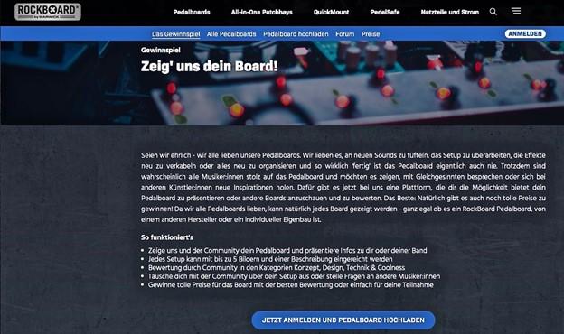 RockBoard Gewinnspiel startete am 1. April 2021