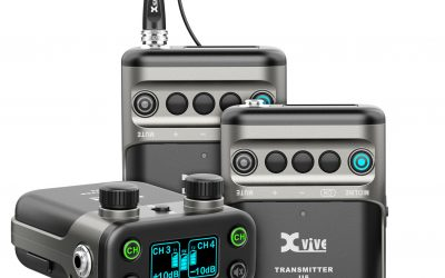 XVive U5 Wireless Audio System with Lavalier Microphone – Bundle, 2x Transmitter + 1x Receiver